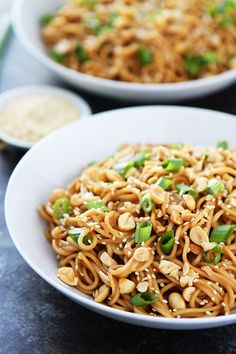 The BEST Sesame Noodles recipe and they only take 20 minutes to make at home! #vegan #veganrecipe #recipes #easyrecipe #dinner #healthyrecipe #glutenfree #vegetarian