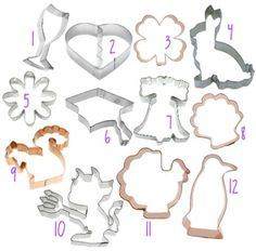 cookie cutter calendar - a cookie cutter for every month. house warming gift idea.