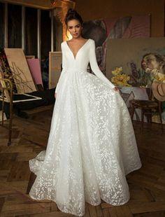 Boho Wedding Dress With Sleeves, Wedding Dresses For Girls, Long Sleeve Wedding, Elegant Wedding Dress, Wedding Dress Styles, Bridal Dresses, Wedding Gowns, Bridesmaid Dresses, Wedding Cakes