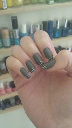 #nail #nails #nailart #black #white #grey