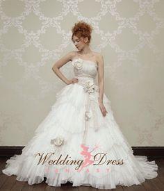 Romantic Wedding Dress Custom Made by WeddingDressFantasy on Etsy, $845.00