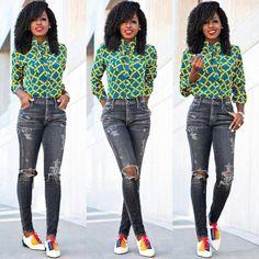 Style Pantry: African print Ankara button down Oxford shirt