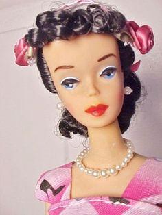 Vint Barbie 1960CUSTOMIZED 4 Brunette Ponytail with OOAK Custom Fashion | eBay