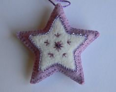 small lilac and white star ornament
