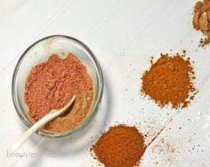 mix together 1 tablespoon of cinnamon, 1 teaspoon of cocoa, 1 teaspoon of nutmeg and 2 teaspoons of cornstarch.  40 DIY Beauty Hacks That Are Borderline Genius