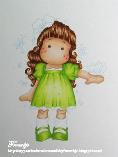 No Lines Tutorial: Dress & Shoes - how to use COPIC pens !!  Very useful !!