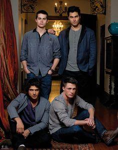 Tyler Posey, Tyler Hoechlin, Colton Hynes, Dylan O'Brien. Teen wolf cast