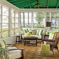 """Southern Living on Instagram: """"We just can't get enough of this little cottage on the Potomac River. Join us at the link in our profile for a peek inside this summertime…"""" Screened Porch Decorating, Screened Porch Designs, Screened In Porch, Front Porch, Side Porch, Porch Kits, Porch Ideas, Pergola Ideas, Patio Ideas"""