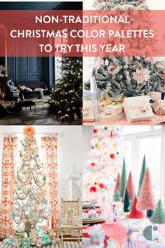 Tired of green and red? Check out this inspiration for decorating with a non-traditional Christmas color scheme.