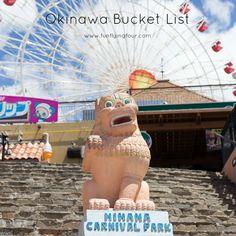 CENTRAL OKINAWA 1 Uruma Sparkling Festival 2 Sunflower Festival 3 Nakagusuku Castle Ruins 4 Nakamura House 5 Ryukyu Mura 6 America Village/Ferris Wheel 7 Araha Beach 8 Yomitan Pottery Village 9 Oki...