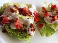Bite Size Goodness: Mini Wedge Salad with Homemade Ranch Dressing Appetizer Salads, Appetizer Recipes, Appetizers, Lettuce Wedge, Lettuce Wraps, Wedge Salad Recipes, Homemade Ranch Dressing, Vegetable Side Dishes, Bite Size