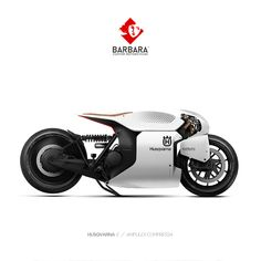 HUSQVARNA E // AMPULEX COMPRESSA Barbara Custom Motorcycles - Photoshop Preparations