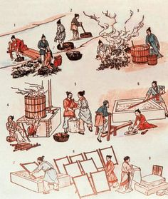 The invention of paper greatly affects human history. Paper already existed in China since 105 A.C, however, a eunuch named Cai Lun (ca. 50 AD – 121) made significant innovation and helped drive its widespread adoption. His advanced papaer-making  technology then spread to central Asia and the world through the Silk Road.