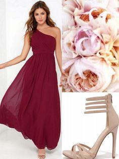 Oxblood-Burgundy-Bridesmaid Dresses