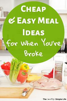 Youll love all of these frugal recipes! Enjoy cheap dinners, plus healthy and inexpensive breakfasts. These meals can wo Easy Meals For Kids, Meals For The Week, Quick Easy Meals, Kids Meals, Budget Freezer Meals, Frugal Meals, Frugal Recipes, Inexpensive Meals, Cheap Dinners