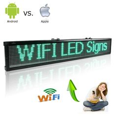 Find More LED Displays Information about Green 12V 24V 110 220V ios And Android Wifi Remote Programmable Advertising LED Display Board for Car bus truck shop Busines,High Quality led display board,China display board Suppliers, Cheap led display from JINGZHI  ELECTRONIC  TECHNOLOGY  CO.,LTD on Aliexpress.com