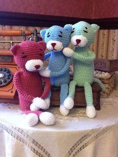 Amineko Crotchet, Teddy Bear, Kitty, Crafty, Doll, Skirt, Animals, Amigurumi, Birds