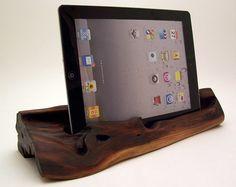 manzanita wood iPad stand & dock