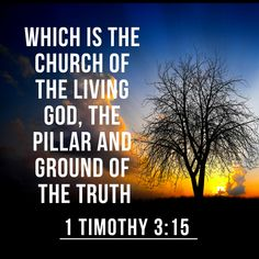 1 Timothy 3:15   But if I tarry long, that thou mayest know how thou oughtest to behave thyself in the house of God, which is the church of the living God, the pillar and ground of the truth.