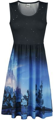 - Elastic waistband - All-over sublimation print What would you do to escape boring everyday life and eat and dance in a wonderful castle? To be a princess in a beautiful dress with a horse-drawn carriage, just for one night? Then you'll have to get the 'Wonderful Coach Ride' dress from Disney's Cinderella, exclusively at EMP. The dress features the castle and the carriage from Cinderella.