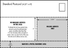 Proper postcard format ottodeemperor usps letter size mail dimensional standards template use the wajeb Image collections