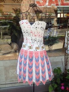 Dress made of playing cards!
