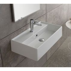 Scarabeo by Nameeks Teorema Ceramic Wall Mounted Vessel Bathroom Sink. Get thrilling discounts up to 70% Off at Wayfair using Coupon & Promo Codes.