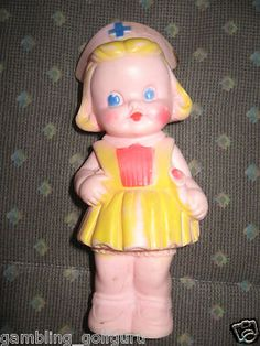 Sun Rubber Co, Squeak Nurse Doll...1960