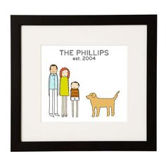 Personalized Family Print (With Pupper) - BestProducts.com