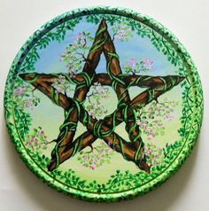 Magickal Ritual Sacred Tools:  Spring Pentacle.