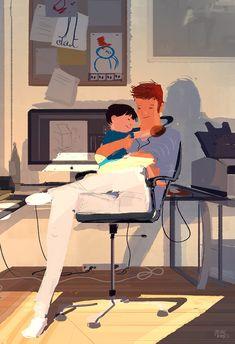 Even Daddies need a hug. #pascalcampion #pascalcampionart