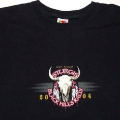 Striking RARE 2004 Sturgis t-shirt 64th Black Hills Rally GREAT Graphics Size 2X #FruitoftheLoom