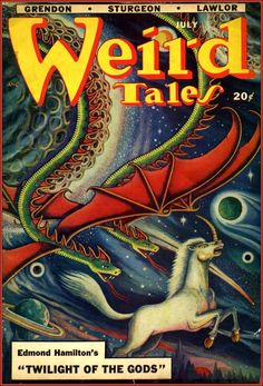 """Download Issues of """"Weird Tales"""" (1923-1954): The Pioneering Pulp Horror Magazine Features Original Stories by Lovecraft, Bradbury & Many More"""