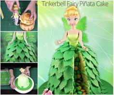 Tinkerbell Pinata Cake