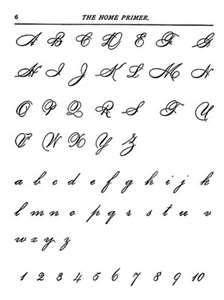 Cool Cursive Fonts Alphabet