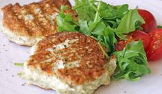 Chicken Zucchini Burgers. From the Candida Diet. It may be a little too much cilantro. Maybe try lime juice or diced tomatoes.