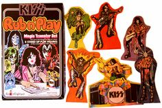 Kiss Rub n Play Magic Transfer Set and other vintage toys Kiss Memorabilia, Kiss Merchandise, Gene Simmons, To Collect, Dear Santa, Vintage Toys, Board Games, Little Girls, Play