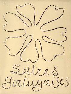 Lettres Portugaises. Cover. Artist: Henri Matisse. Author : Mariana Alcoforado. Publisher : Teriade, Paris, 1946. Size : 26.5×22 cm
