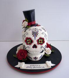 Image result for sugar skull cake