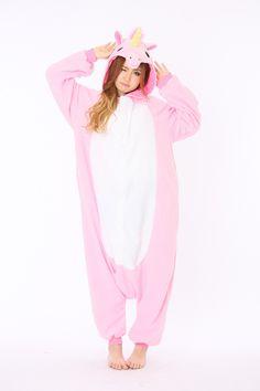 b5c54ebe22 Pink Unicorn Animal Onesie