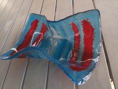 Schale in blau / rot