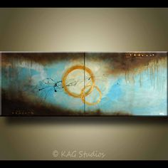 Abstract Art Painting by KAG 24x60 Texture. $329.00, via Etsy.