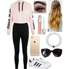 A fashion look from April 2017 featuring Boohoo leggings, adidas sneakers and Lokai bracelets. Browse and shop related looks.