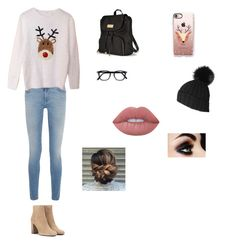 """""""Christmas Spirit :)"""" by anastasia-scales-1 ❤ liked on Polyvore featuring Givenchy, Yves Saint Laurent, Victoria's Secret, Casetify, Black and Lime Crime"""