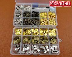 Kit de Corchetes de Presión Metalicos Varios colores