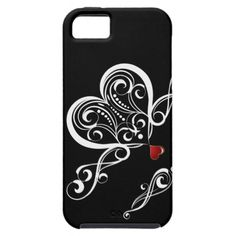 A Black and White with a Red Love Heart - iPhone case for you.