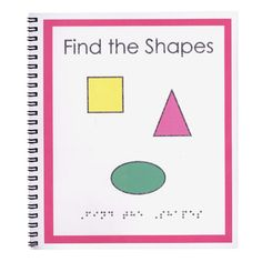 Childrens Braille Book- Find the Shapes - Braille-Tactile Books - MaxiAids #blind #braille #books