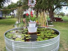 Homemade diy water feature pond fountain best images about fountains and ponds on garden ideas gardening . Outdoor Ponds, Outdoor Gardens, Above Ground Pond, Waterfall Project, Table Color, Diy Pond, Patio Pond, Backyard Ponds, Pond Fountains