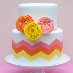 Inspiration with Songket Affairs (SA Diaries): Fancy Treats: Colorful wedding cakes