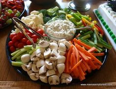 Veggie tray with Beau Monde Dip